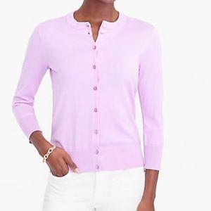 Jcrew purple cardigan xs